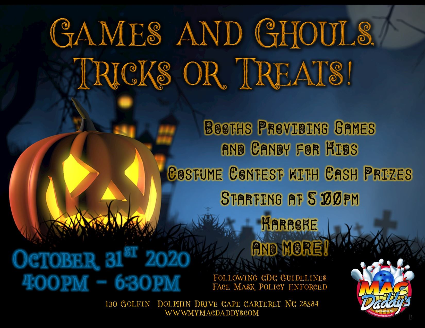 Games and Ghouls Tricks or Treats!