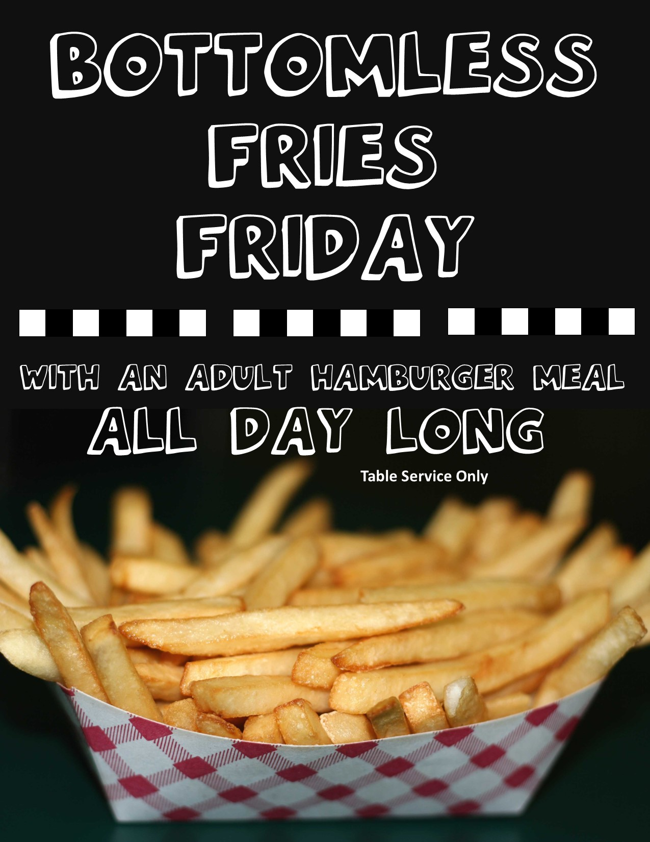 Bottomless Fries Friday